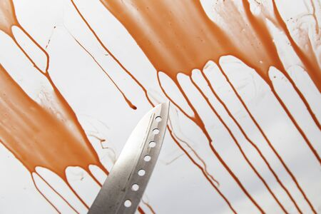 Blood in car accident, danger and recklessness Stock Photo