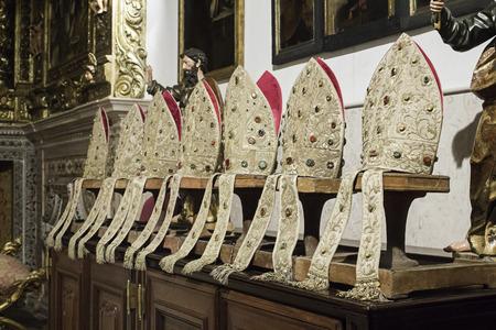 religious clothing: Bishop in religious clothing church, faith Stock Photo