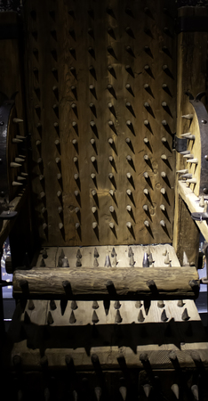 Medieval instrument of torture, detail of torture in the inquisition Stock Photo