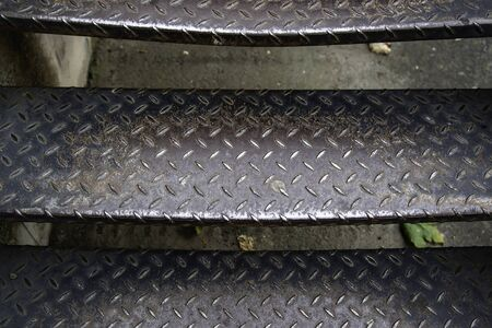Metal stairs in industrial factory, construction and architecture
