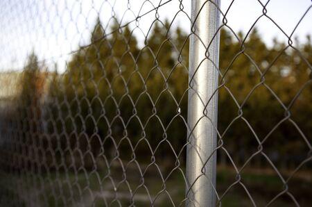 Wire fence electified in contretacion field, barrier at war, victims Banco de Imagens
