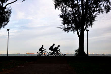 Cyclists Banco de Imagens