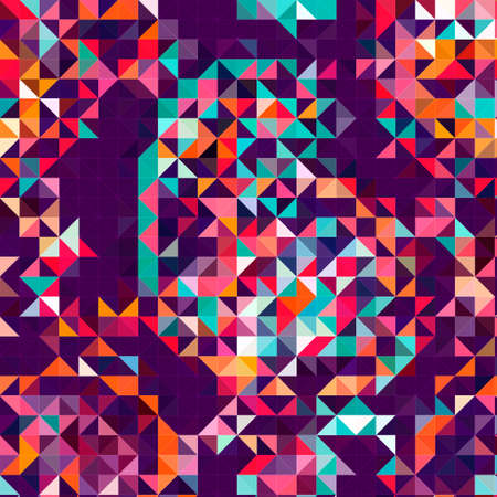 pink purple isometric abstract conceptual colorful background and patterns Stock Photo