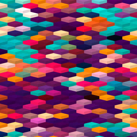 isometric minimal abstract cubes and squares colorful backgrounds textures patterns Banco de Imagens