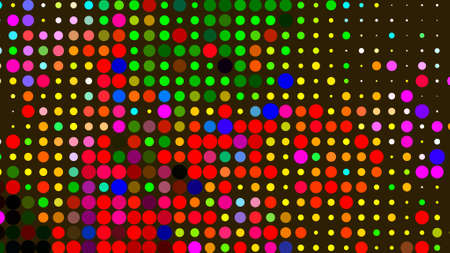 colorful abstract backgrounds in circles and polka dots