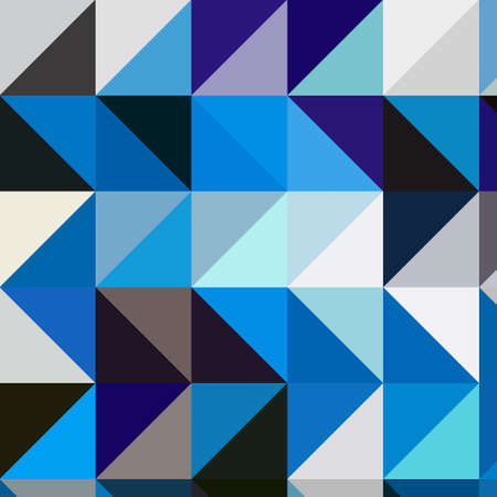 blue squares and triangles isometric abstract conceptual colorful background and patterns