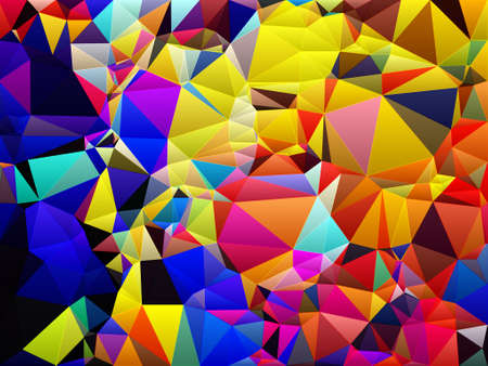 colorful poly morph triangles abstract colorful shapes background patterns Stock Photo