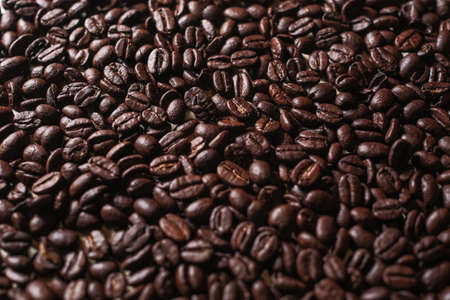 roasted coffee beans texture macro full screen background