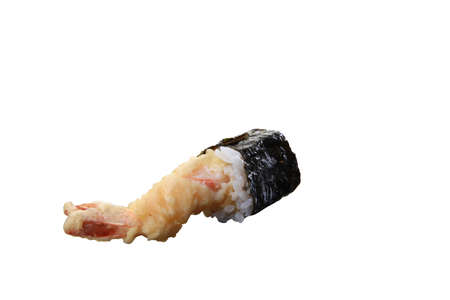 sushi rolls isolated background