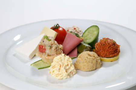 garniture side dish plate