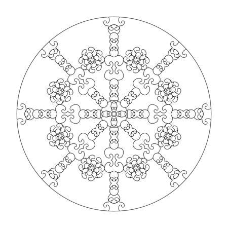 Mandala coloring page. vector illustration. Art Therapy. Decorative element. Illustration