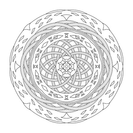 Mandala coloring page, vector illustration. Art Therapy. Decorative element.