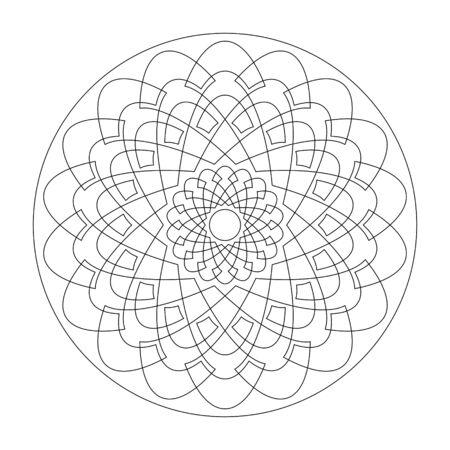 Mandala. Rosette pattern. Abstract. Decorative element. Art Therapy. Illustration