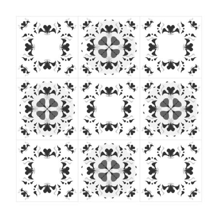 Pattern hearts black white and gray. Seamless. Decorative element. Vector.