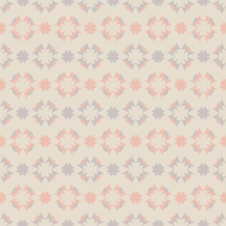 Seamless pattern with hearts. Color cream ivory, gray and orange. Pastel colors. Vector. Illustration