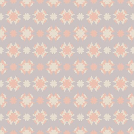 Seamless pattern with hearts. Color gray, orange and cream ivory. Pastel colors. Vector. Banque d'images - 146923659
