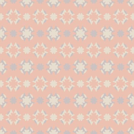 Seamless pattern with hearts. Color orange, ivory cream and gray. Pastel colors. Vector.