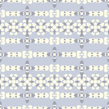 Retro, vintage seamless pattern. Blue, chocolate color and pale yellow. Pastel colors. Vector. Banque d'images - 147966267