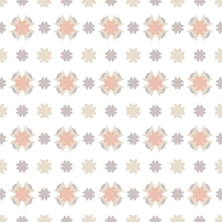 Seamless pattern with little abstract hearts. White, gray, orange and ivory cream. Vector. Banque d'images - 147966292