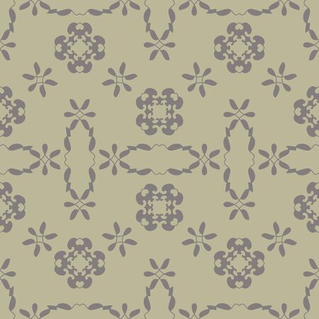 Seamless pattern with little hearts. Light green color and gray. Vector.
