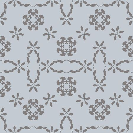 Seamless pattern with little hearts. Color light blue and gray. Vector.