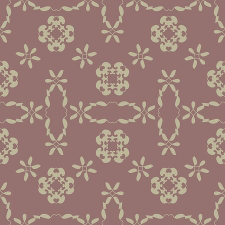 Seamless pattern with little hearts. Burgundy red color and light green. Vector. Illustration