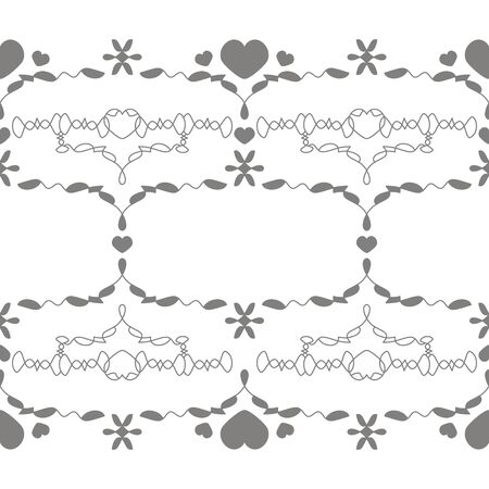Seamless pattern with little hearts. Color white and gray. Vector.