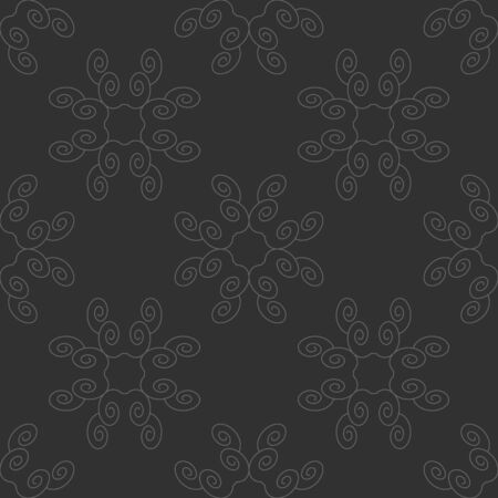 Seamless pattern with spirals. Dark gray and Light gray. Vector.