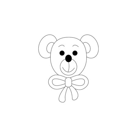 Little bear coloring page. Cute. Vector illustration. Illustration