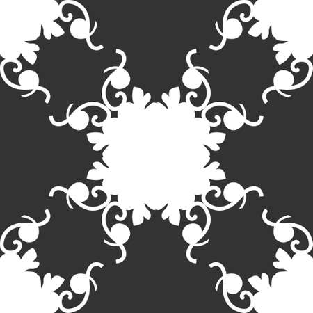 Seamless pattern. Spirals. Colors Dark gray and white. Vector. Banque d'images - 151222344