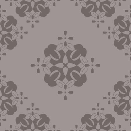 Seamless retro, vintage pattern. Chocolate color. Spirals and abstract. Vector.