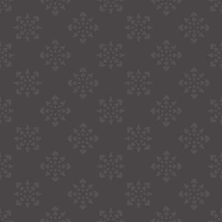 Seamless pattern with hearts. Dark gray. Vector. Illustration