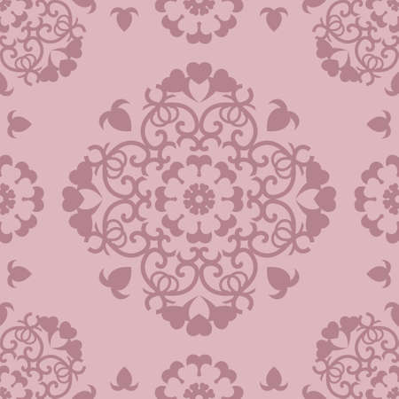 Seamless Pastel Pink pattern. Pretty hearts. Abstract. Vector. Illustration