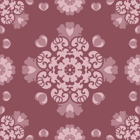 Seamless pattern Rose wood color and Pastel Pink. Pretty hearts. Vector. Illustration