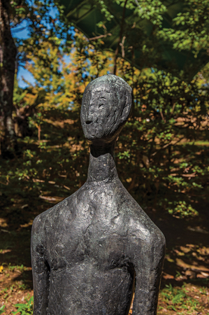 Campos do Jordao, Brazil - January 17, 2015. Sculpture in the open-air Felicia Leirner Museum near Campos do Jordao, famous for its mountain and hiking tourism. São Paulo State, southwestern Brazil Editorial