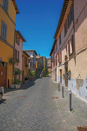 Überblick über Eine Gasse Mit Alten Gebäuden