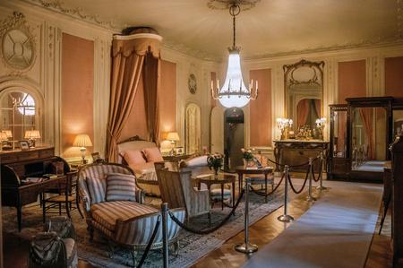Furniture In Luxurious De Haar Castle Bedroom Near Utrecht Of Medieval Origin It