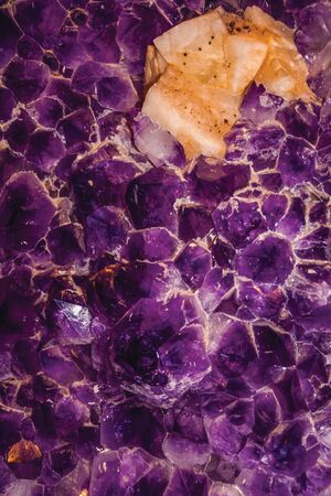 Huge and magnificent semiprecious gemstone of amethyst with calcite inclusions in Gramado. A cute european-influenced town in southern Brazil, highly sought after by tourists.