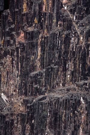 Detail of magnificent semiprecious gemstone of black tourmaline in Gramado. A cute european-influenced town in southern Brazil, highly sought after by tourists. Stock Photo