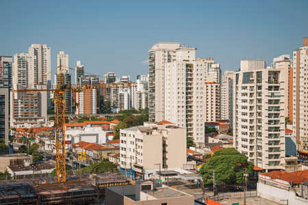 São Paulo, Brazil - November 4, 2020. City skyline with apartment buildings in São Paulo. A huge city, famous for its cultural and business vocation.