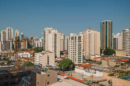 São Paulo, Brazil - November 4, 2020. City skyline with apartment buildings in São Paulo. A huge city, famous for its cultural and business vocation. Редакционное