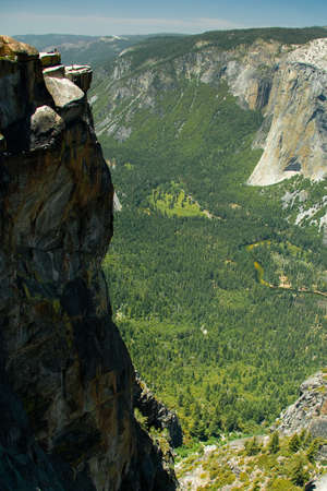 All you can see hiking your way to Taft Point in Yosemite Park, California, USA Stock Photo