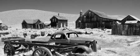 bodie: Bodie State Historic Park is a genuine California gold-mining ghost town. Stock Photo