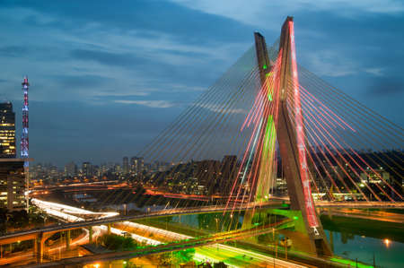 Most famous bridge in the city of Sao Paulo, Brazil