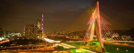 Most famous bridge in the city of Sao Paulo, Brazil