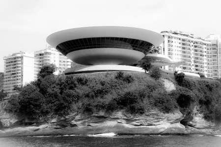 rio de janeiro: Contemporary Museum of Art in the city of Niteroi, state of Rio de Janeiro