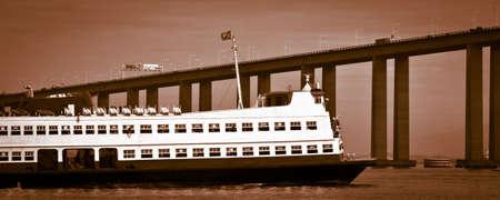 Barca Rio-Niteroi ferry boat on Baia de Guanabara in Rio de Janeiro