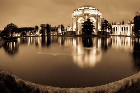 fine arts: Late afternoon view of the palace of fine arts, in San Francisco, CA, USA Editorial