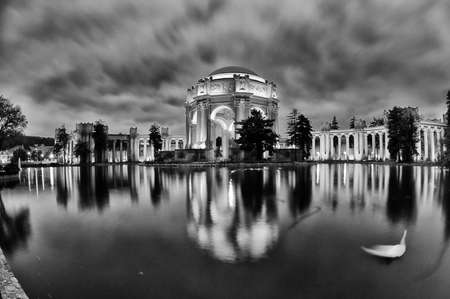 fine arts: Late afternoon view of the palace of fine arts, in San Francisco, CA, USA Stock Photo