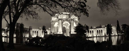 Late afternoon view of the palace of fine arts, in San Francisco, CA, USA Editorial